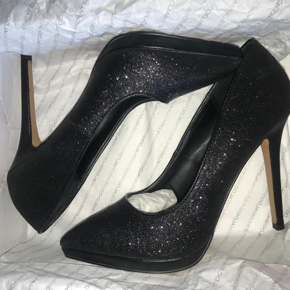 8acc7481a74 Black sparkle heels